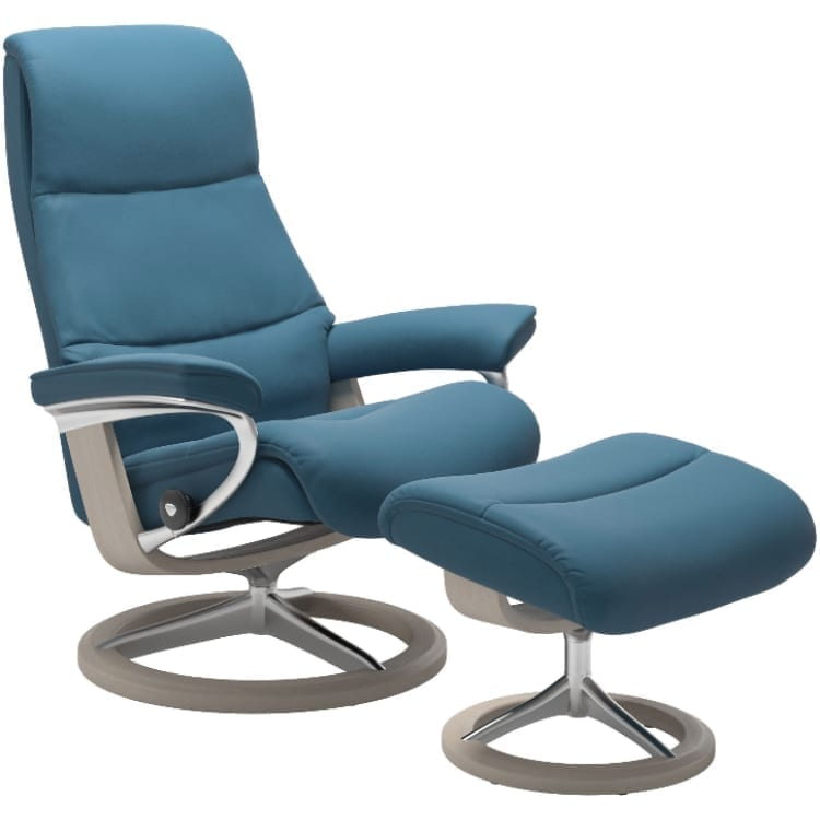 (product) Stressless View Signature Recliner & Ottoman